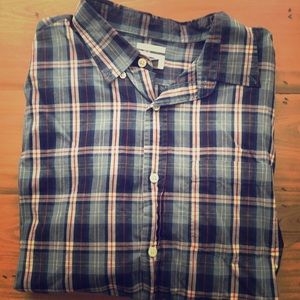Old Navy- Plaid-Blue/Red/White- Button Down- XL